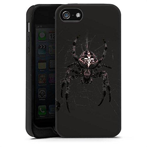 Apple iPhone X Silikon Hülle Case Schutzhülle Araneus Spinne Spider Tough Case matt