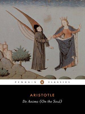 By Aristotle - De Anima (On the Soul) (Classics) (Reissue)