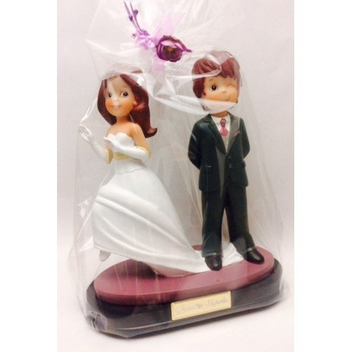 Figure wedding PERSONALIZED sweethearts wink cake tarts figures ENGRAVED cake