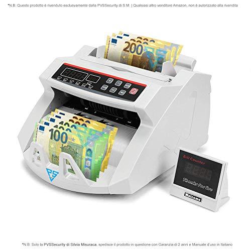 Conta banconote e rilevatore di soldi falsi Contabanconote euro professionale