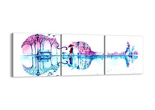 Bild auf Leinwand - Leinwandbilder - DREI Teile - Breite: 120cm, Höhe: 40cm - Bildnummer 3077 - dreiteilig - mehrteilig - zum Aufhängen bereit - Bilder - Kunstdruck - CA120x40-3077