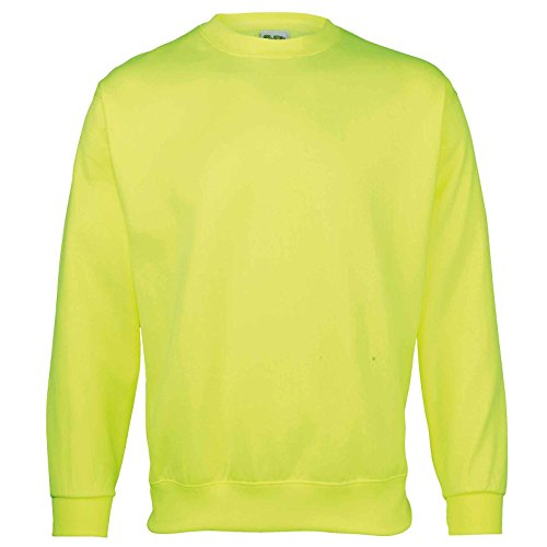 AWDis Damen Modern Sweatshirt Gr. XL, Electric Yellow (Pullover Wool Brown Crewneck)