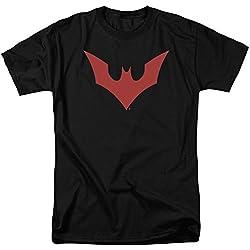 Hombre Más Allá Bat Logo Camiseta Negro