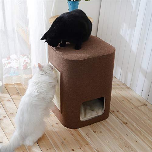 SAUWERAY Double-Layer Pet Nest, abnehmbare und waschbare Matte Cat Climbing Frame Claw Artefakt, solide und Dicke Abfälle zu schwül