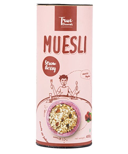 True Elements Strawberry Muesli, 400g