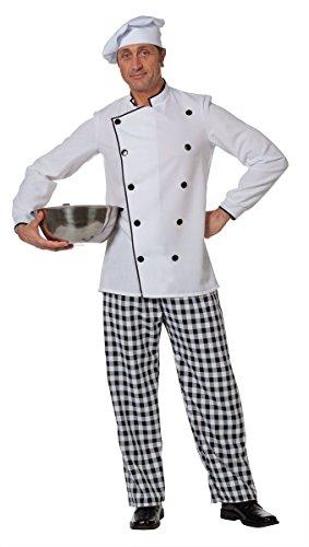Lustige Chefkoch Erwachsenen Kostüm - Herren Kostüm Koch Chefkoch Karneval Fasching