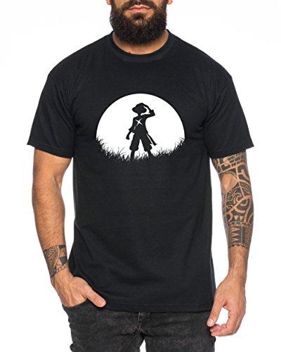 Sunrise Ruffy Camiseta de Hombre One Luffy Monkey D. Piece, Farbe2:Neg