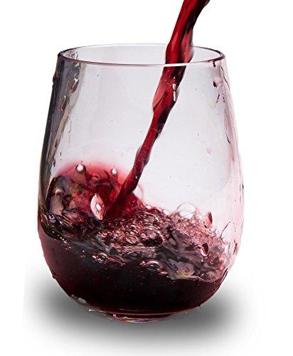 notmog-Nicht aus Glas Tritan unzerbrechlich ohne Stiel Wein Gläser, Set von 4 - Copolyester-glas