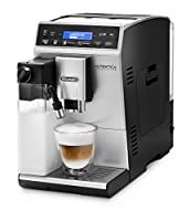 New evolved cappuccino system;New silent grinder with 13 settings;Soft touch control panel;Auto shut off;DeLonghi Latte crema system