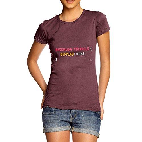 TWISTED ENVY  Damen T-Shirt burgunderfarben