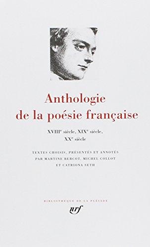 Anthologie de la poésie française, tome 2 : Du XVIIIe au XXe siecle. par Collectif