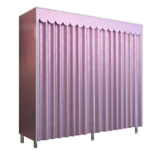 HMEIGUI Garderobe Portable Storage Organizer Closet - Schattierung Stoff Tuch Garderobenregal...