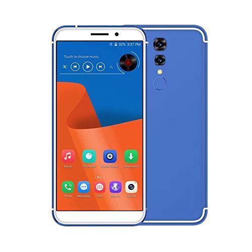 Oasics Smartphone, Dual-HD-Kamera-Smartphone 1 + 16G setzte 4G Smartphone HD Android-Handy für gerades Gespräch ATT TMobile frei WiFi Bluetooth Smartphone (Blau) Att Mobile-handy