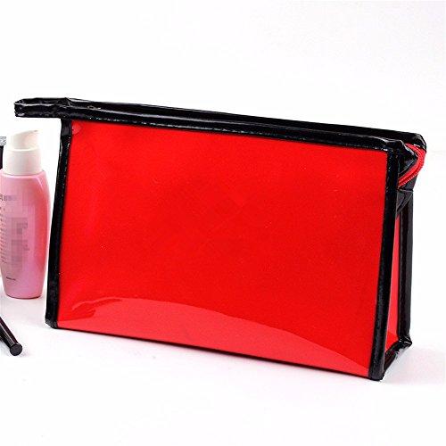 KAFEI Kosmetische storage Paket große Kapazität glänzend Spiegel reisen Weiblich, rot red