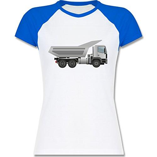 Andere Fahrzeuge - Muldenkipper Wannenkipper - zweifarbiges Baseballshirt / Raglan T-Shirt für Damen Weiß/Royalblau
