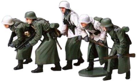 Tamiya 300035256 - set soldatini della seconda guerra mondiale, fanteria tedesca, 5 pz., scala 1:35