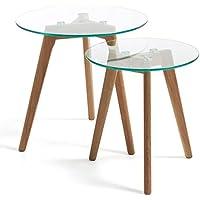 Tavolo Rotondo In Vetro.Amazon It Tavoli Rotondi Vetro Tavoli Da Sala Da Pranzo Sala