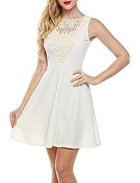 Zeagoo Damen Elegant A-Line Partykleid Ärmellos Cocktailkleid Festliche  Kleider… b665800855