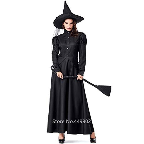 FHSIANN Gothic Hexe Halloween Kleid für Frauen