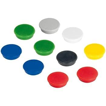 10xFRANKEN Haftmagnet weiß rund Kunststoff Haftkraft 1,5kg Whiteboard Magnetwand
