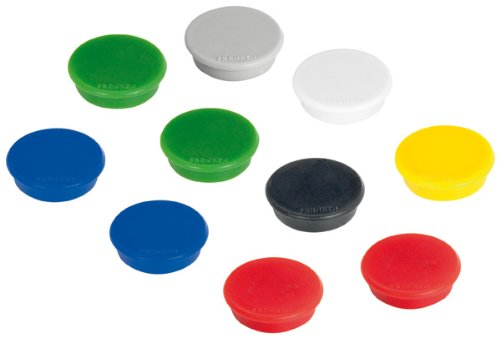 10 farbige Magnete (24 mm, 300 g)