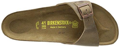 Birkenstock Madrid, Mules Étroit Beige (Tabacco Brown)