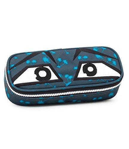 Bustina round - invicta - lip face yap - portapenne con organizer interno - grigio blu lt, multicolore, poliestere