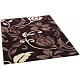 Rugs With Flair Infinite Damask Oblong Rug, 120 x 170 cm, Chocolate/ Cream