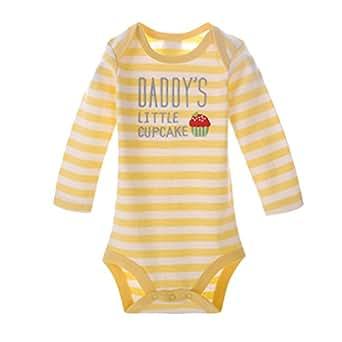 Dooxii Unisex Bambini Ragazzi Ragazze Manica Lunga Stampato Pigiama Tutine Moda Confortevole Body Bimbo Pacco da Combinazione Giallo 9