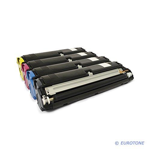 4X Eurotone Toner für Konica Minolta Magicolor 2400 2430 2450 2480 2490 2500 2530 2550 2590 PS D DX Desklaser W DL MF DN N ersetzt QMS 2400 (2550 Konica Minolta)