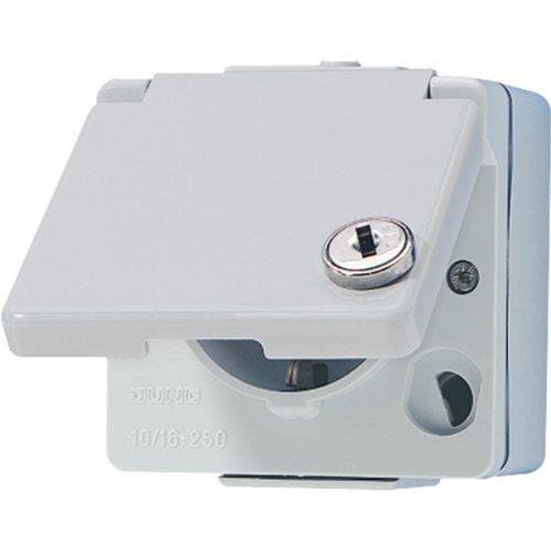 Preisvergleich Produktbild Jung 620WSL Schuko-Steckdose mit Sicherheitsschloss