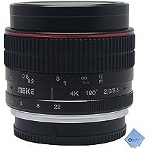 Meike MK-6,5 mm F/2.0 lente ojo de pez súper gran angular lente de enfoque Manual para cámaras de Nikon 1 + Mcoplus paño de limpieza