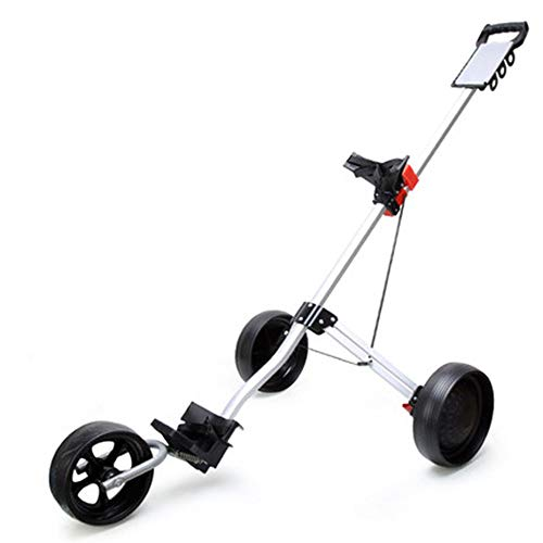 Multifunktions 3 Rad Klapp Golf Pull Push Cart, Trolley 360 ° drehbar Leicht Aluminiumlegierung stark und robust