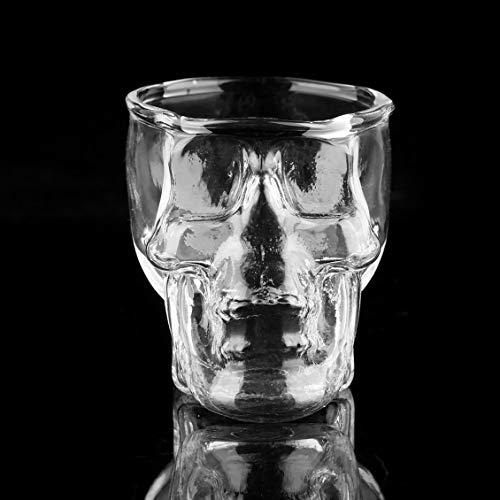 Prima05Sally Transparente Schädel Kopf Schnapsglas Tasse für Wodka Whisky Wein Bier Startseite Trinkwaren Neuheit Tasse Wein Becher Geschenk Tasse