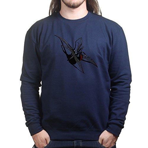 Mens Real 3D Spider Halloween Scary Sweatshirt M Navy ()