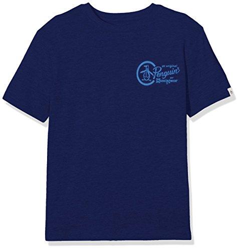 original-penguin-core-jersey-maglietta-bambino-blue-blue-depths-8-9-anni