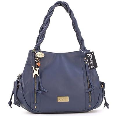Catwalk Collection Handbags - Cuir Véritable - Grand Sac à Main/Sac porté épaule/Cabas - Femme - CAZ