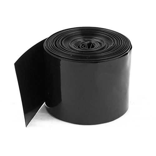sourcing map 50mm/30mm PVC Hitze Shrink Tubing Wrap Schwarz 5m 16,4 ft für 2 x 18650 Akku DE de (Shrink Fit Schlauch)