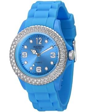 Madison New York Unisex-Armbanduhr Juicy Glamour Analog Silikon U4101L2