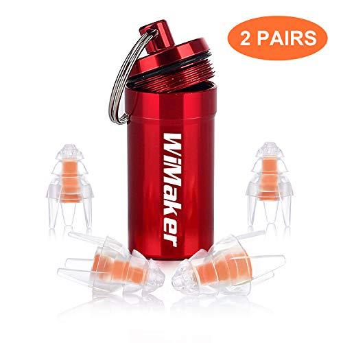 WiMaker Schwimmen Ohrstöpsel, weiche Flüssigkeit Silikon wasserdichte Ohrstöpsel zum Schwimmen/Schwimmer/Bad/Dusche (2 Paar)