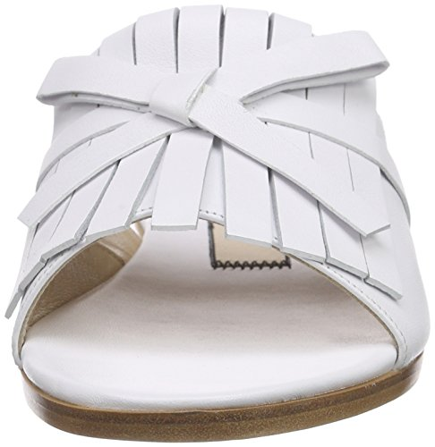 Unbekannt 8736, Sandales Plateforme femme Blanc - Blanc