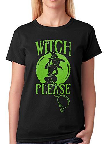 vanVerden Damen Unisex Fun T-Shirt Witch Please Halloween -