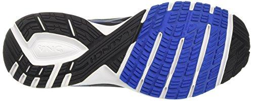 Brooks Launch 4, Chaussures de Course Homme Noir (Black/lapis Blue/lime Popsicle)