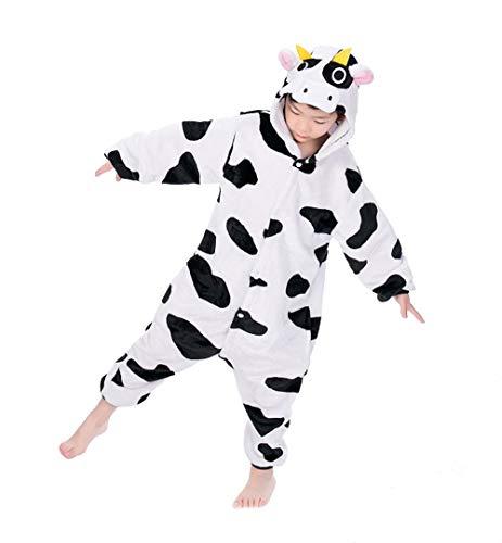Tuopuda Kinder Pyjamas Tier Schlafanzug Jumpsuit Nachtwäsche Unisex Cosplay Kostüm für Mädchen und Jungen Halloween Karneval Fasching (Kleine Lustige Halloween-kostüme Mädchen)