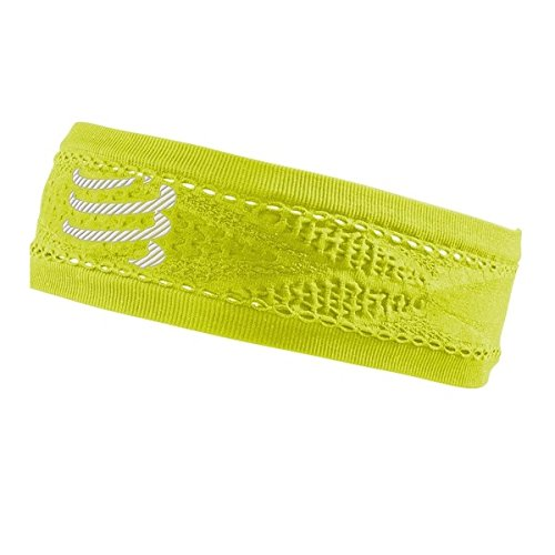 Compressport Thin Headband On/Off Cinta, Amarillo Flúor, Talla Única