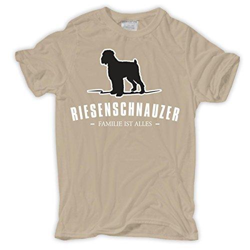 Männer und Herren T-Shirt Riesenschnauzer - Familie ist Alles Größe S - 8XL Sand