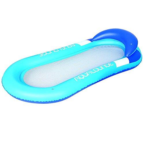 Bestway aufblasbare Pool Hängematte Luftmatratze Netzeinsatz Sonnenliege Wasserliege 160x84cm Meer Planschbecken blau