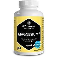 Complejo de magnesio³ 350 mg de magnesio elemental 180 comprimidos veganos- citrato de magnesio +
