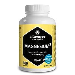 Vitamaze® Magnesio Completo 350 mg di Magnesio Elementare, 180 Compresse Vegane per 6 Mesi, Citrato di Magnesio…