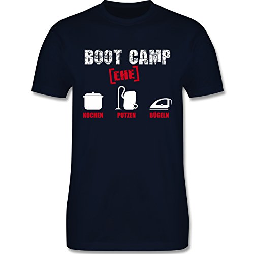 JGA Junggesellenabschied - Boot Camp Ehe - Herren Premium T-Shirt Navy Blau
